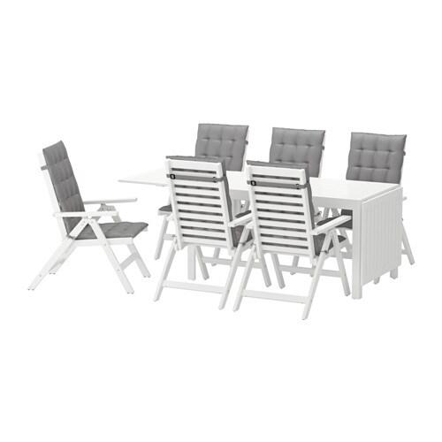 Pplar tavolo 6 sedie relax da giardino pplar bianco h ll grigio ikea - Sedie relax ikea ...