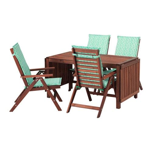 Pplar tavolo 4 sedie relax da giardino pplar mordente marrone n st n verde ikea - Sedie relax ikea ...