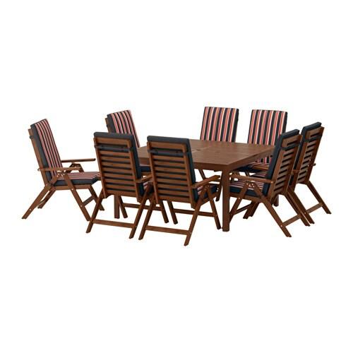 Pplar tavolo 8 sedie relax pplar mordente marrone eker n nero ikea - Sedie relax ikea ...