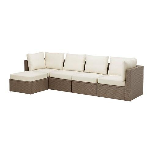 Arholma divano 4 posti poggiapiedi esterno ikea - Ikea divani giardino ...