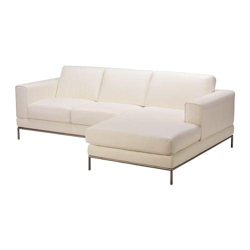 Arild divano 2 posti chaise longue dx bomstad bianco ikea for Arild chaise longue