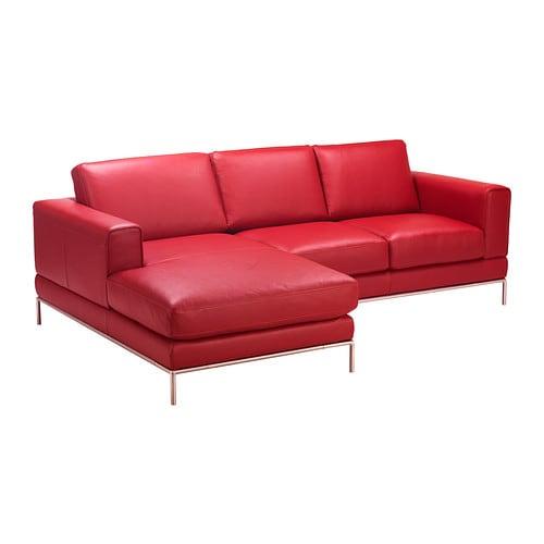 Arild divano 2 posti chaise longue sx karakt r rosso ikea for Arild chaise longue