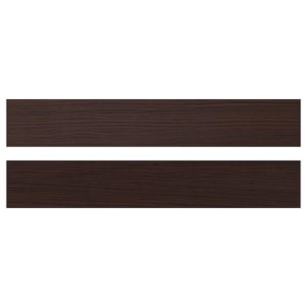 ASKERSUND Frontale cassetto, marrone scuro effetto frassino, 60x10 cm