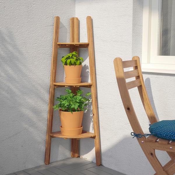ASKHOLMEN Piedistallo per piante, mordente marrone chiaro