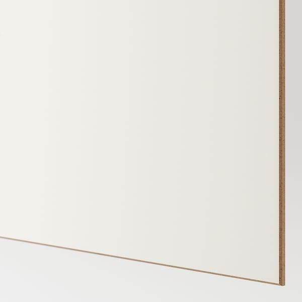 AULI / MEHAMN Coppia di ante scorrevoli, vetro a specchio/bianco, 150x236 cm