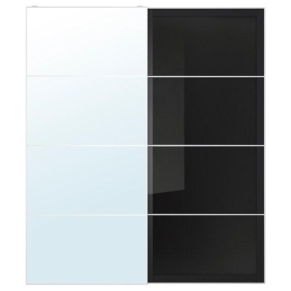 Specchio Armadio Ante Scorrevoli Ikea.Auli Uggdal Coppia Di Ante Scorrevoli Vetro A Specchio Vetro