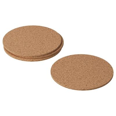 AVSKILD sottobicchiere sughero 10 cm 4 pezzi
