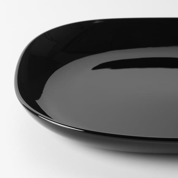 BACKIG Piatto da portata, nero, 30x30 cm