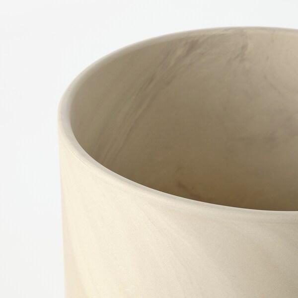 BACKSMULTRON Portavasi, da interno/esterno beige/grigio, 19 cm
