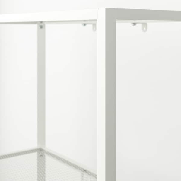 BAGGEBO Scaffale, metallo/bianco, 60x25x116 cm