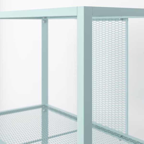 BAGGEBO Scaffale, metallo/turchese chiaro, 60x30x80 cm