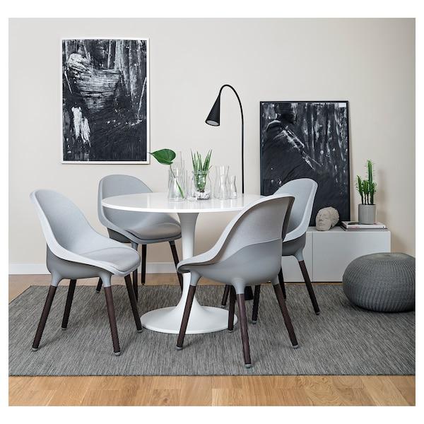 BALTSAR Sedia, grigio chiaro/marrone