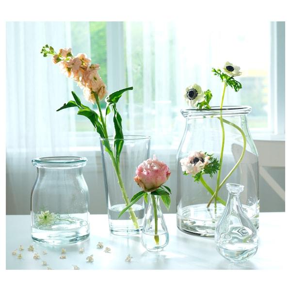 BEGÄRLIG Vaso, vetro trasparente, 29 cm