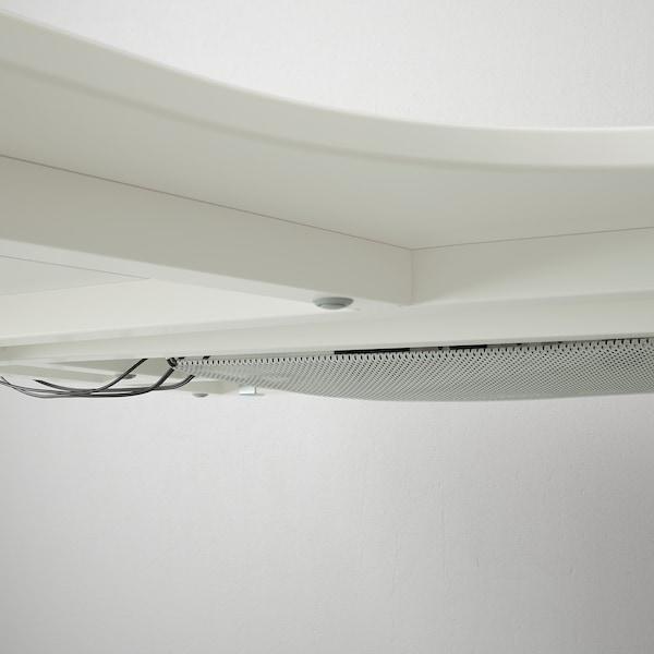 BEKANT Scrivania angolare sinistra, bianco, 160x110 cm