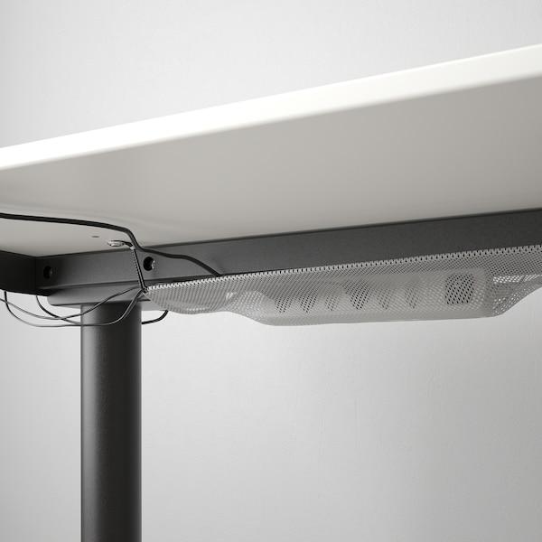 BEKANT Scrivania regolabile in altezza, bianco/nero, 160x80 cm
