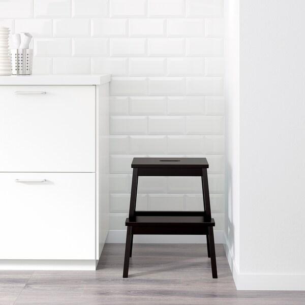 BEKVÄM Scaletta/sgabello, nero, 50 cm