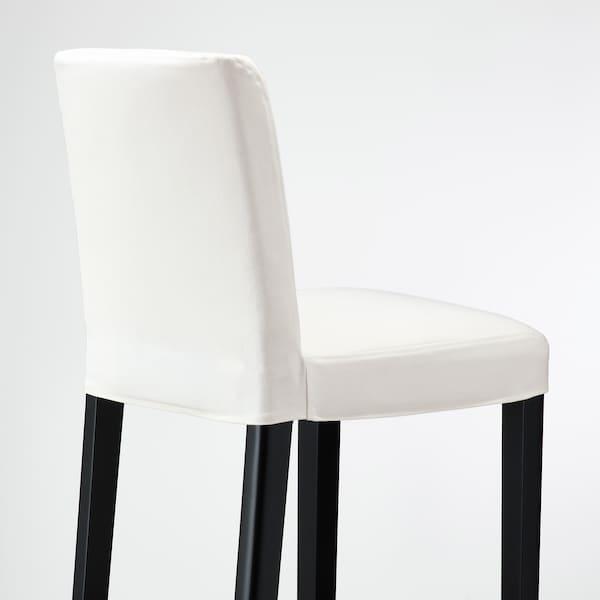 BERGMUND Sgabello bar con schienale, nero/Inseros bianco, 62 cm