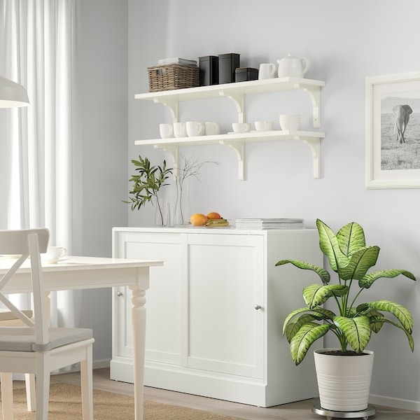 BERGSHULT / RAMSHULT combinazione di mensole bianco 120 cm 30 cm
