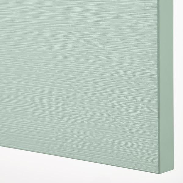 BESTÅ Mobile con ante, bianco/Hjortviken/Stubbarp grigio pallido-verde, 120x42x74 cm