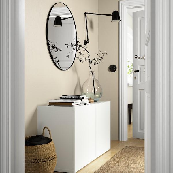 BESTÅ Mobile con ante, bianco/Lappviken bianco, 120x42x65 cm
