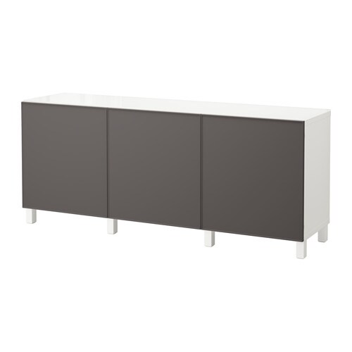 Best mobile con ante bianco grundsviken grigio scuro ikea - Ikea besta mobel ...