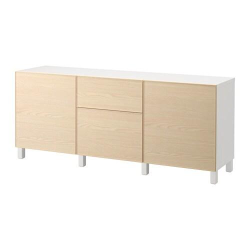 Best mobili con cassetti bianco inviken - Impiallacciatura mobili ...