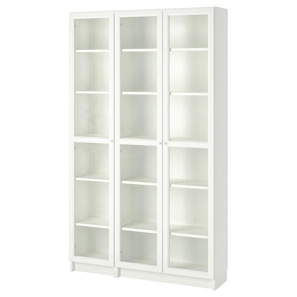 Libreria Con Ante In Vetro Prezzi.Billy Oxberg Libreria Con Ante A Vetro Bianco Ikea Svizzera