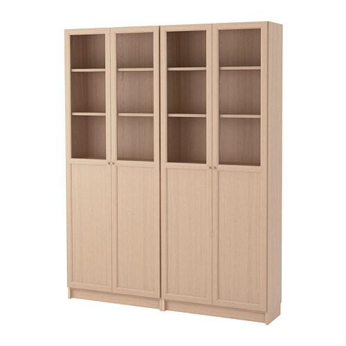 Libreria Billy Ikea Ante.Billy Oxberg Combinazione Di Librerie Con Ante Impiallacciato