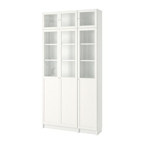 Billy oxberg libreria bianco vetro ikea - Ikea libreria billy ...