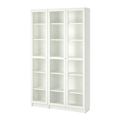 Libreria Con Ante Di Vetro.Billy Oxberg Libreria Con Ante A Vetro Bianco