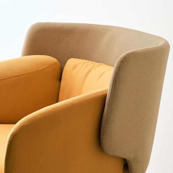 BINGSTA Poltrona, Vissle giallo scuro/Kabusa giallo scuro