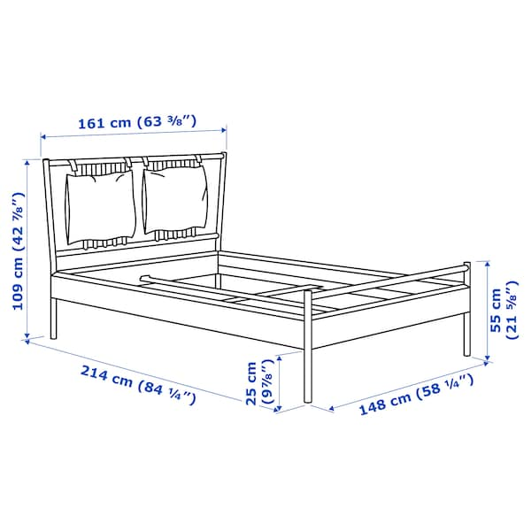 BJÖRKSNÄS Struttura letto, betulla/Lönset, 140x200 cm