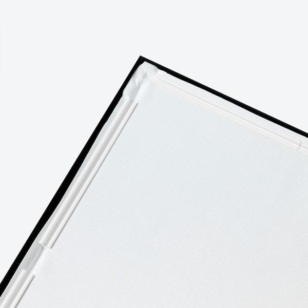BJÖRKSTA Canvas con cornice, I'm Going To Have Fun In Here…/nero, 118x78 cm