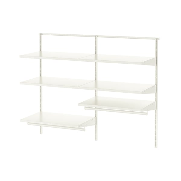 BOAXEL 2 sezioni, bianco, 125x40x101 cm
