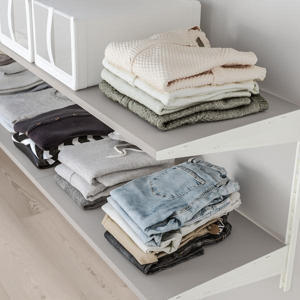 BOAXEL 3 sezioni, bianco/grigio, 187x40x101 cm