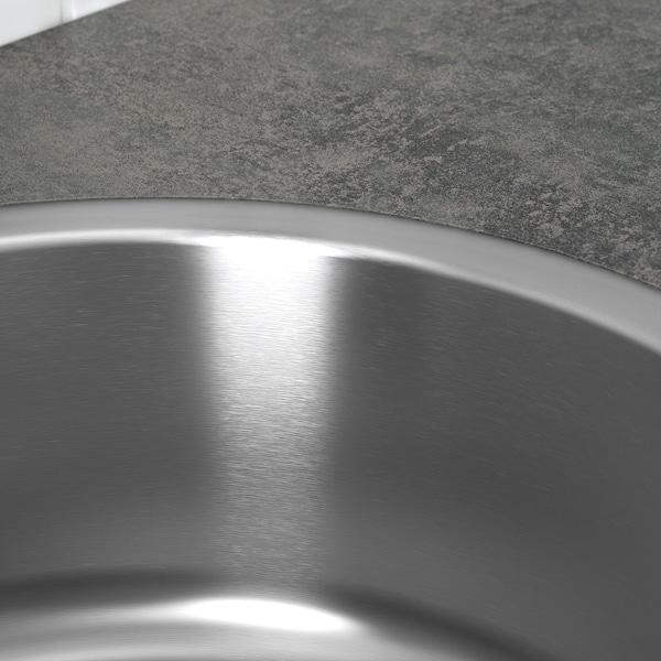 BOHOLMEN Lavello da incasso a 1 vasca, inox, 45 cm