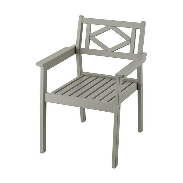 Sedie Giardino Plastica Ikea.Bondholmen Sedia Con Braccioli Da Giardino Mordente Grigio