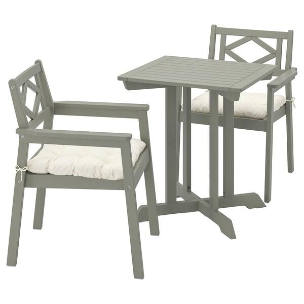 Sedie Giardino Plastica Ikea.Bondholmen Tavolo 2 Sedie Braccioli Giardino Mordente Grigio