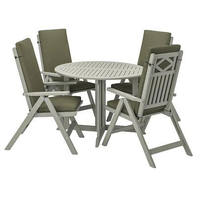 BONDHOLMEN Tavolo+4 sedie relax, da giardino