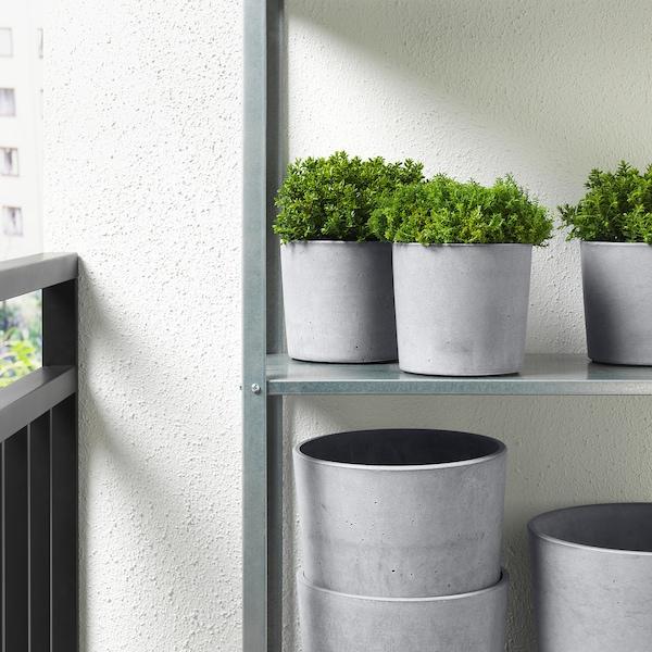 BOYSENBÄR Portavasi, da interno/esterno grigio chiaro, 12 cm