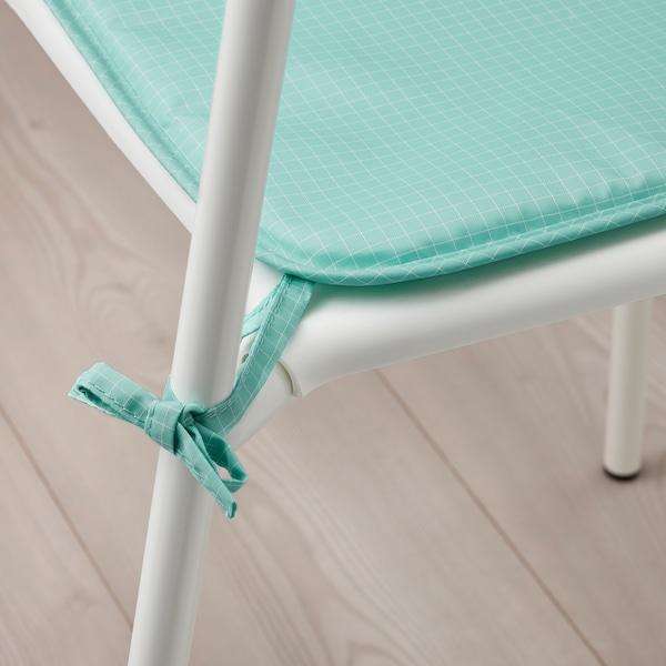 BRÄMÖN Cuscino per sedia, turchese chiaro da interno/esterno, 34x34x1.0 cm