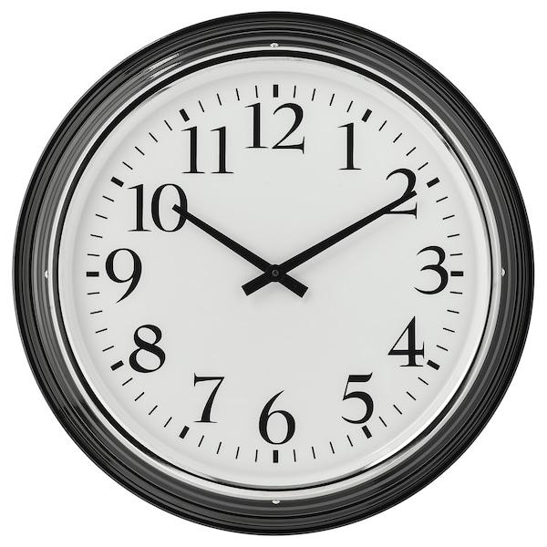 Bravur orologio da parete nero ikea svizzera for Orologio adesivo da parete ikea