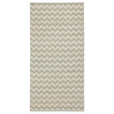 BREDEVAD Tappeto, tessitura piatta, motivo a zig-zag beige, 75x150 cm