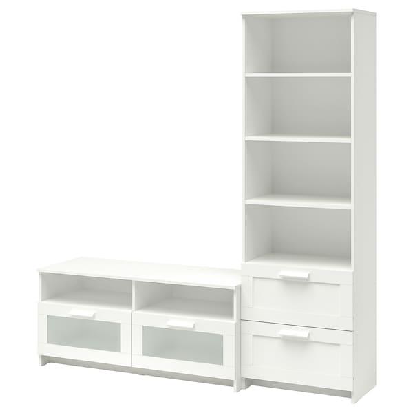 BRIMNES Combinazione per TV, bianco, 180x41x190 cm