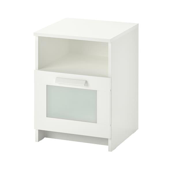 BRIMNES Comodino, bianco, 39x41 cm