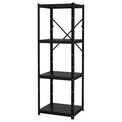 BROR Scaffale, nero, 65x55x190 cm