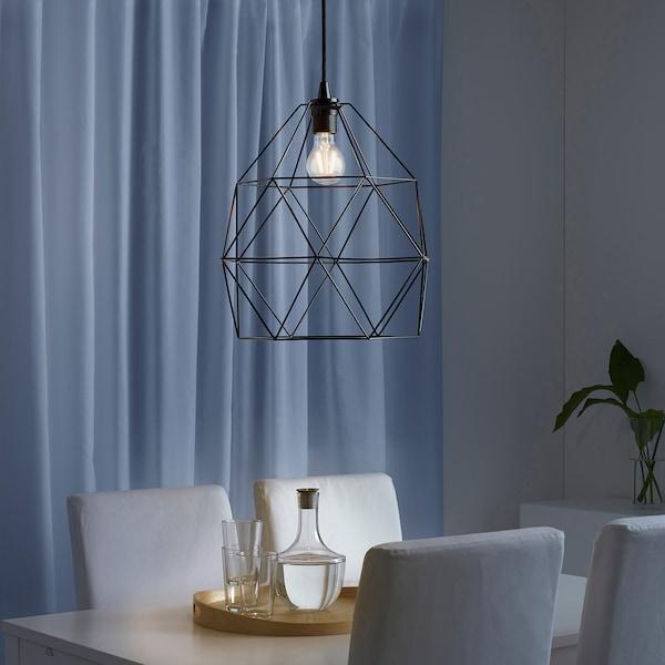 BRUNSTA / HEMMA Lampada a sospensione, nero, 30 cm