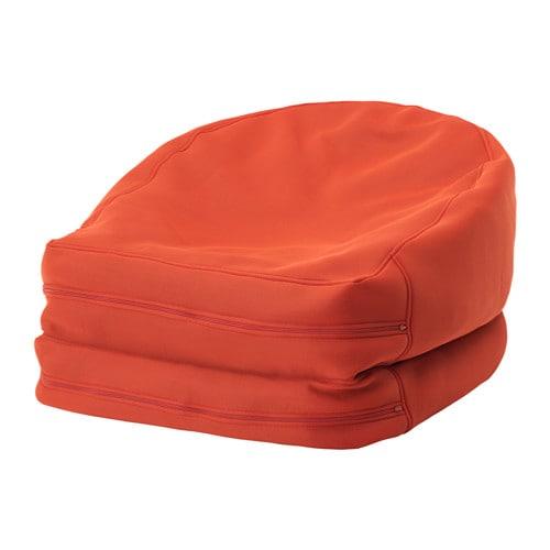 BUSSAN Poltrona sacco interno/esterno - arancione - IKEA
