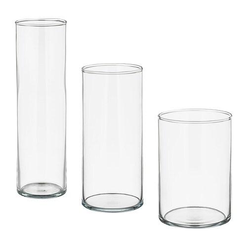 Cylinder Set Di 3 Vasi Ikea