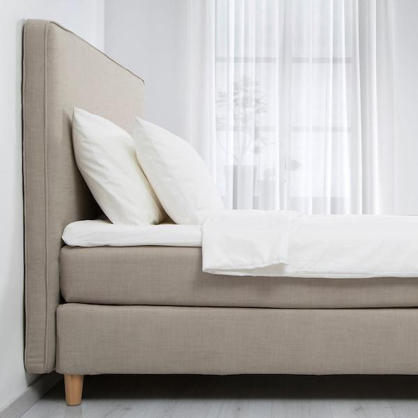 DUNVIK Sommier, Hyllestad rigido/Tussöy beige scuro, 180x200 cm